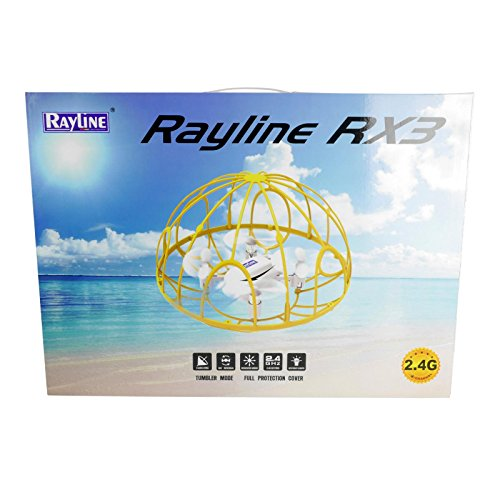 FPS RTF Bundle: Rayline RX3, Schwarz, 2.4G RC NANO Drohne Training Mini Quadrocopter, Trainingsdrohne mit Käfig, Übungsdrohne, 6 Achsen Gyro, flexibler Schutzkäfig, 3D Flips, inkl. Akku & 3xAA - 8