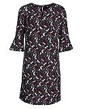 STEILMANN by Adler Mode Damen Kleid mit stilisierten Blumen Marine/Weinrot/Ecru/Hellblau 38
