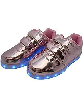 LED Leuchtende Sneakers mit USB Anschluss zum aufladen für Kinder - Gr. 30-37