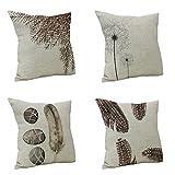 Nunubee Kissenbezug Spezial Stil Federn cushion cover Sofa Büro Dekorativ 45*45cm Vielfalt Kombinationen