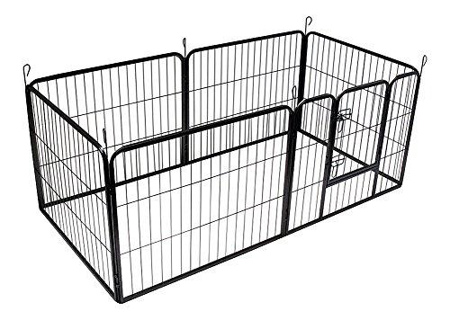 Bunny-Business-Heavy-Duty-Puppy-Play-Pen-Rabbit-Enclosure-6-PANEL-Gunmetal-Grey