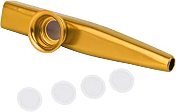 Electomania® Aluminium Alloy Kazoo with Diaphragm (Golden)