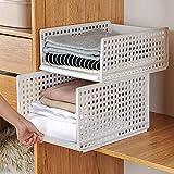 Homieco Stapelbarer Kunststoff Kleiderschrank Aufbewahrungs Organizer Abnehmbarer Regal Schrank Schubladen Schrank Aufbewahrungskorb für Küche Schlafzimmer
