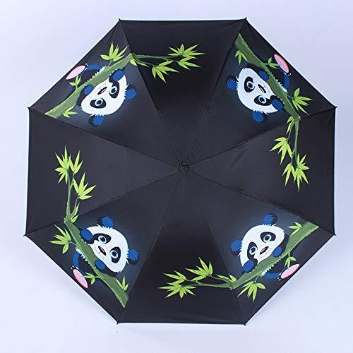 SQYSHOP Yesello Star Sky Universe Regenschirm Frauen Wasserdicht Sun Regen Sonnenschirm Bunte Blume Panda DREI Falten Schwarz Bleistift Regenschirme , Orange-1390 -