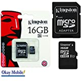 Kingston Carte mémoire microSD 16 Go d'origine pour Samsung Galaxy A5 2016 sm-g386 a510 F