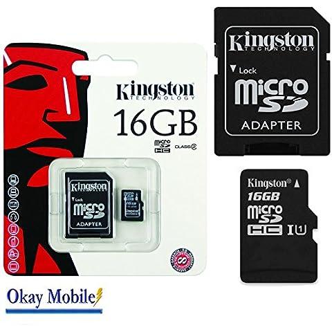 Scheda di memoria Micro SD da 16 GB per Samsung Galaxy Grand Prime SM-G530FZ