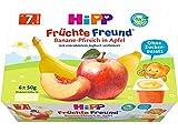 HiPP Früchte-Freund Banane-Pfirsich in Apfel, 4er Pack (6 x 50 g)