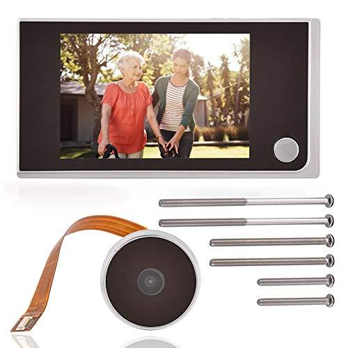 Mavis Laven Visor de Mirilla de la Puerta Digital, Mini HD Pantalla LCD a Color de 3.5 Pulgadas de Alto píxel Video Visual Timbre Digital para Interiores
