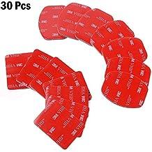 D & F 30piezas de doble cara VHB adhesivo adhesivo 15pcs soporte de + 15pcs curvado cinta para GoPro Hero 5/4/3+/3SJCAM SJ4000SJ5000y otros casco Accesorios Kit