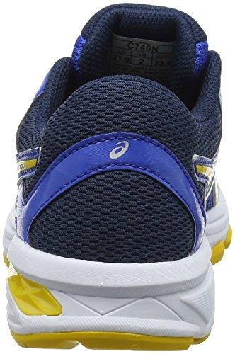 Asics Gt-1000 6 GS, Chaussures de Running Garçon Multicolore (Victoria Blue/tai-chi Yellow/dark Blue 4504)