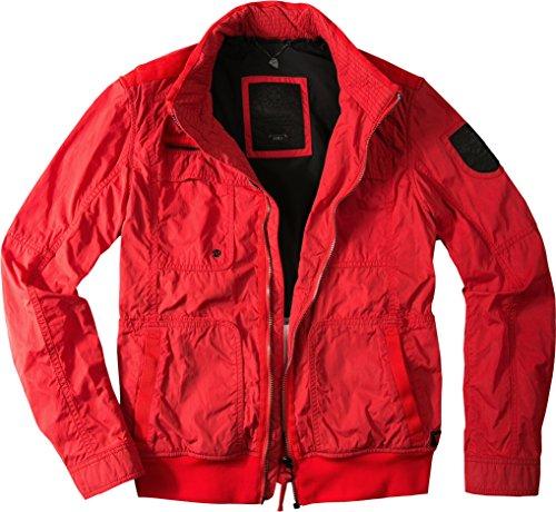 Strellson Sportswear Herren Jacke Swiss Cr Baumwolle modisches Langarmoberteil Unifarben, Größe: 48, Farbe: Rot