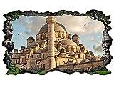 3D Wandtattoo Skyline Moschee Istanbul Islam Allah Bild selbstklebend Wandbild sticker Wohnzimmer Wand Aufkleber 11G722, Wandbild Größe F:ca. 162cmx97cm