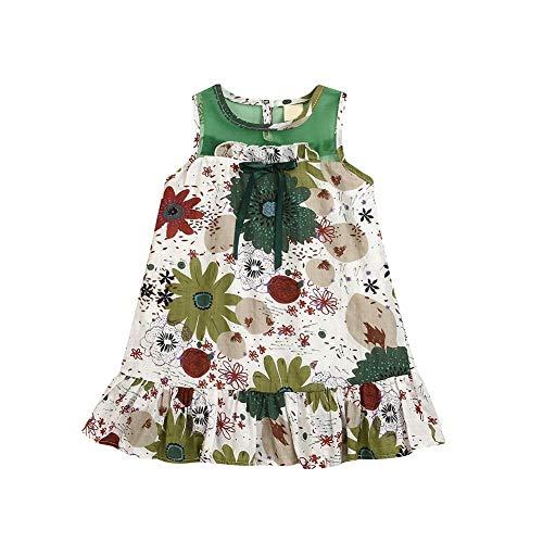 Hongyuangl Baby Mädchen Sommerkleid Kids Girl Shift Kleid Bohemian Print Urlaub Party Kleid Beachwear Kleidung (Mädchen Shift Kleider)