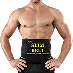 Creatif Ventures Sweating Waist Trimmer Fat Burner Belly Tummy Yoga Wrap Black Exercise Body Slim look Belt Free Size SWEATING BELT