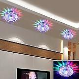 LED Decken Leuchte Kristall Glas Lampe Beleuchtung Wandleuchte Deckenlampe (bunt)