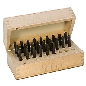 24 pièces avec les lettres de l'Alphabet grec Punch Set pour tampon en bois, boîte en métal de 3 mm
