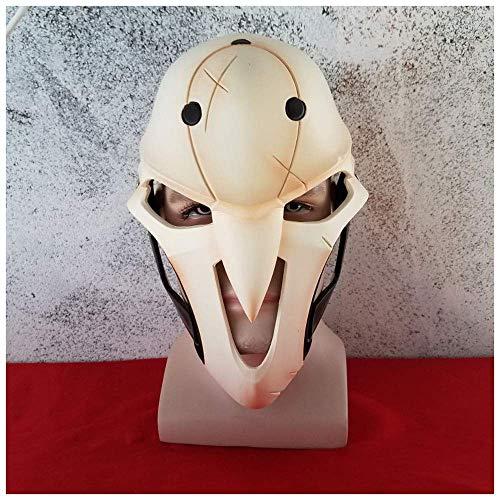 YaPin Uhr COS Death Mask Pioneer Videospiel Zeichen Requisiten Halloween Horror Skeleton Helm (Halloween Band Skeleton Dekoration)