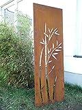 Garten Sichtschutz aus Metall Rost Gartenzaun Gartendeko edelrost Sichtschutzwand 031344-2 150*50*2cm