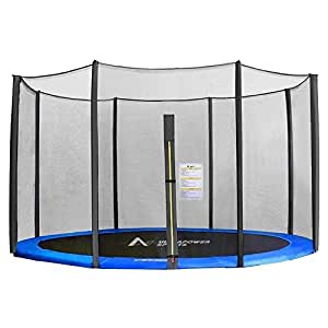 8 FT 6 Poles Replacement Protective Enclosure Safety Net for Trampoline--Trampoline Accessoire Safety Netting --Net Only