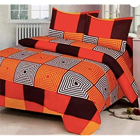 PRIDHI 180TC Glace Cotton Double Bedsheet with 2 Pillow Cover Rajasthani New Design15