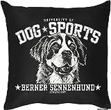 Berner Sennenhund - Hunde Motiv Kissen mit Innenkissen Geschenk Hundefreunde 40x40cm Rassehund Dekokissen u Nutzkissen : )