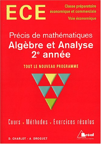Algbre et analyse 2e anne ECE