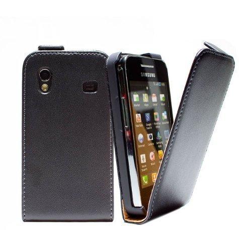 mobilefox Samsung Galaxy ace GT-S5830 / GT-S5830i Custodia Incl. Pellicola Protettiva Involucro Custodia Cover Astuccio Per Cellulare Flip Bumper Smartphone Nero