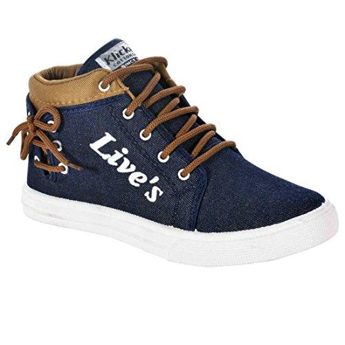 Bruton Men's Blue Casual Shoes -10
