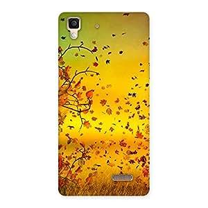 Impressive Flying Autumn Leaves Back Case Cover for Oppo R7