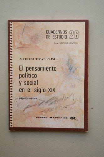 Descargar Libro Pensamiento politico y social en el siglo XIX, el de Alfredo Traversoni