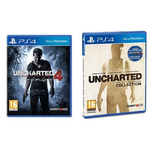 Uncharted 4: Fine di un Ladro + Uncharted: The Nathan Drake Collection - PlayStation 4