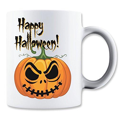 Happy Halloween Angry Pumpkin Eyes Mug