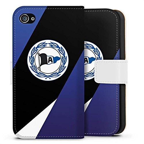 Apple iPhone 6s Silikon Hülle Case Schutzhülle Arminia Bielefeld Fanartikel DSC Sideflip Tasche weiß