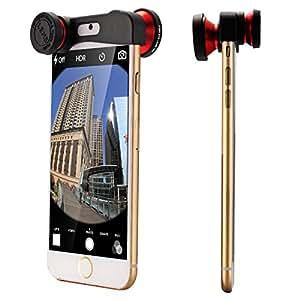"""XCSOURCE® Rouge 180 Degrés Fisheye Lentilles+ Grand Angle Macro Lentilles pour iPhone 6 4.7"""" DC573"""