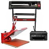 PixMax Pressa a Caldo 50cm per Sublimazione su Magliette, Plotter da Taglio Vinile & Stampante