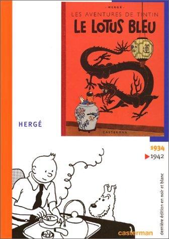 Le Lotus bleu, fac-similé par Hergé