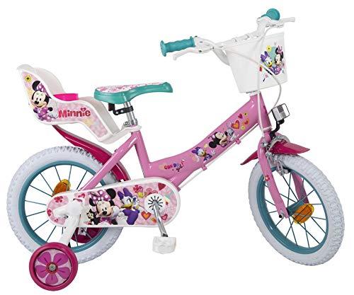 Bicicleta Toimsa Minnie 14 edad 4 6 años. Tiene portabebés