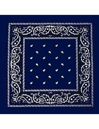 Foulard bandana tour de cou - Paisley USA bleu marine - Country - Cowboy - Moto