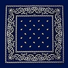 Foulard bandana tour de cou - Paisley USA bleu marine - Country - Cowboy -  Moto 576ac983e0d