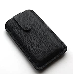 Chalk Factory Genuine Leather Case for Sony Xperia M2 Mobile Phone (#LP, Black)