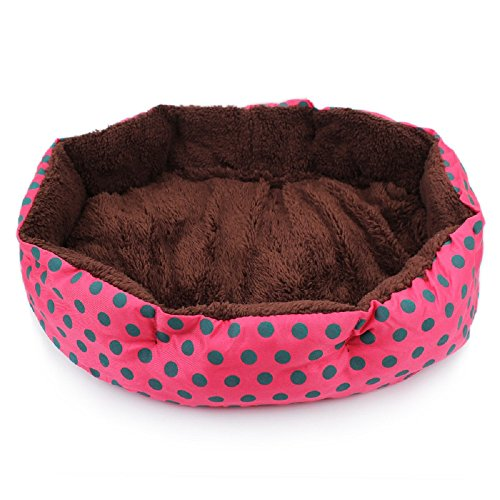 JUNGEN Cama para Mascotas Suave y Acogedor Cama para Perros Cómodo Colchoneta para Perro Gato Mascota, 36 * 30cm (Rosa Rojo)
