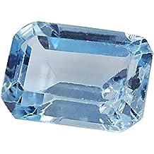 Banithani 100% hermosa calidad natural de topacio azul suelta piedra preciosa tallada