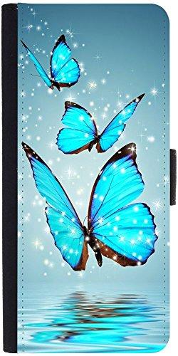 Snoogg Blue Butterfly Digitaldesigner Protective Flip Case Cover For Samsung ...