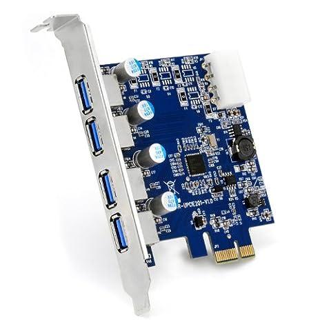 CSL - 4-Port USB 3.0 (super speed) card PCIe express controller card | Interface card USB 3.0 | New model / New driver | USB hub