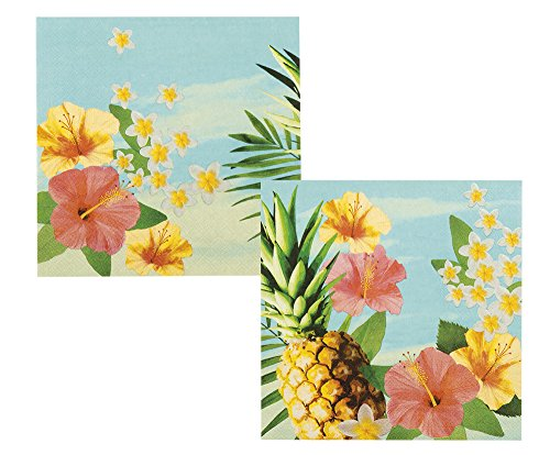 Servietten hawaii-Party 33 x 33cm bunt 12 Stück