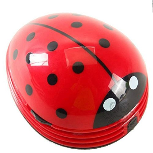 Soft-laminiert (jarown Vakuum Desktop Couchtisch von Staub Collector Mini Marienkäfer Shaped für Büro Schreibtisch Dekoration, plastik, rot)