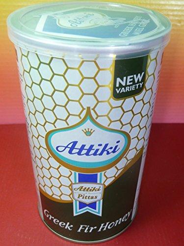 Attiki Greek Greece Fir Honey Tin 455g (1lb) 100% Greek Honey , Delicious , Fresh - 1 Lb Tin