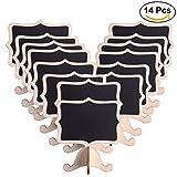 ULTNICE Lavagnette promemoria Mini lavagna rettangolare Lavagnette messaggi da tavola per le feste decorativi (14pcs)