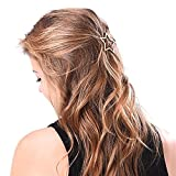 G-Brand GGG Damen Mädchen Haarstyling Hohl Stern Metall Haarnadel Haarspange Frisur Werkzeug