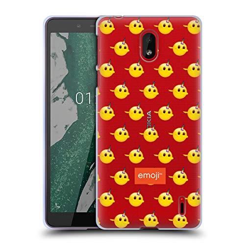Head Case Designs Offizielle Emoji® Tupfer-Muster Sei EIN Einhorn Soft Gel Huelle kompatibel mit Nokia 1 Plus -